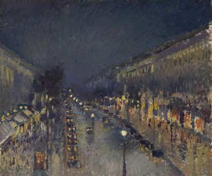Pissarro-boulevard-montmartre-night-NG4119-r-half